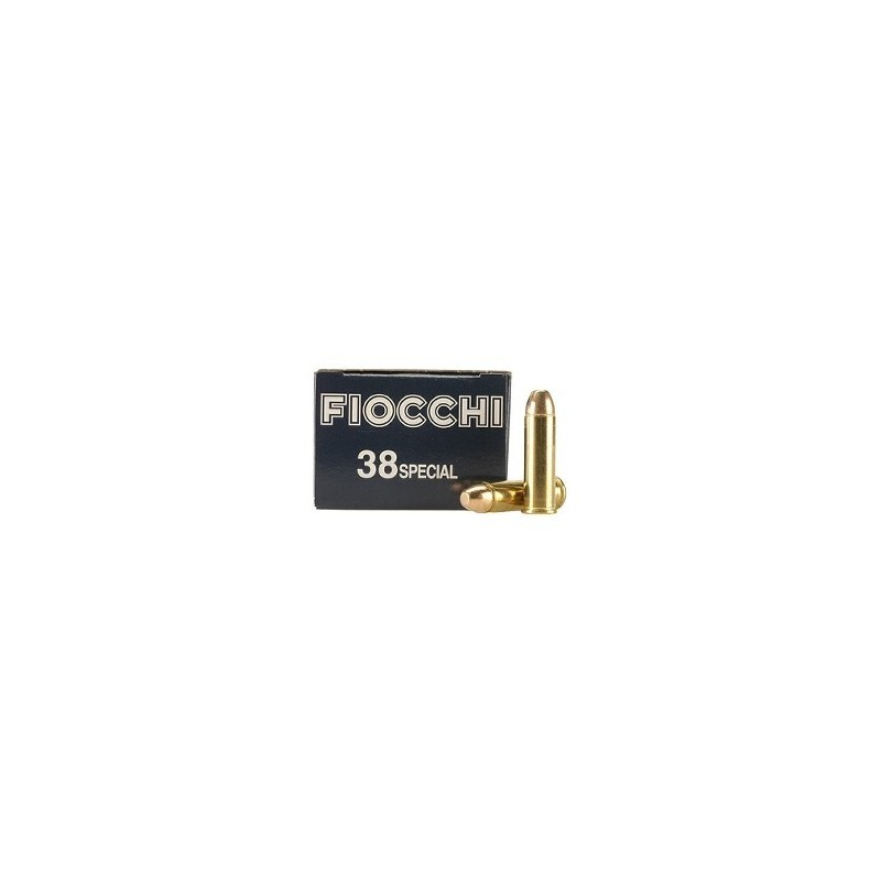 Fiocchi .38 Special/158 FMJ RN 50 stuks