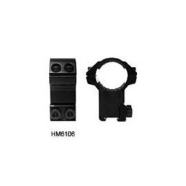 "Hawke HM6106 2-Piece 1""/25mm High Rings"