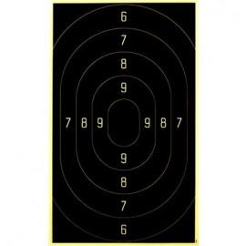 Schietkaart Service Pistol Groot Kaliber 3201 100 stuks