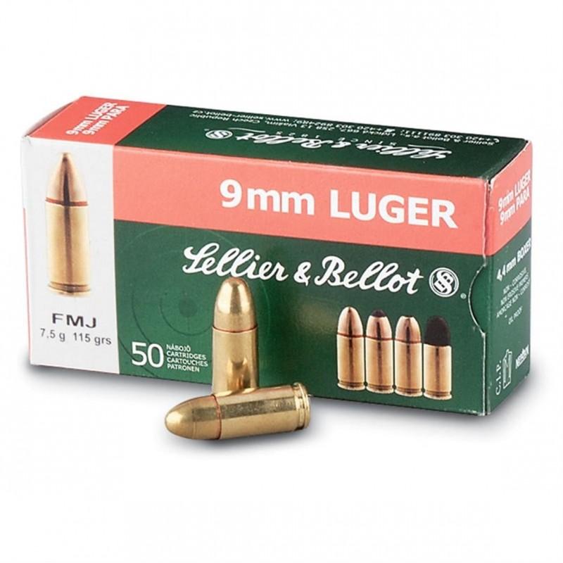 Sellier & Bellot 9mm 115gr FMJ 50 stuks