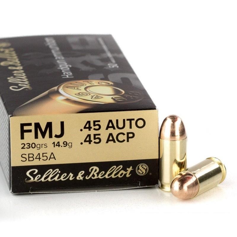 Sellier & Bellot 45 ACP 230gr FMJ 50 stuks