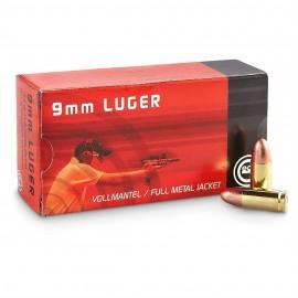Geco 9mm/124 FMJ RN 50 stuks