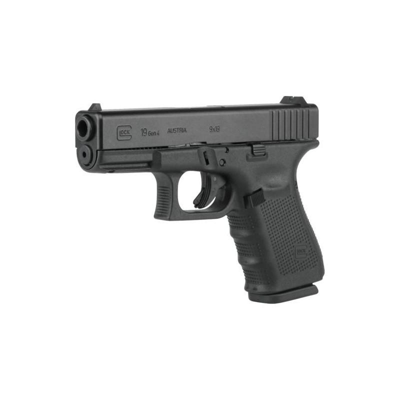 Glock 19 9mm 4e generatie met vast vizier