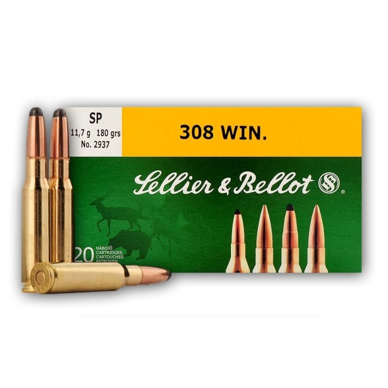 Sellier & Bellot .308 Win 180gr SP 20 stuks