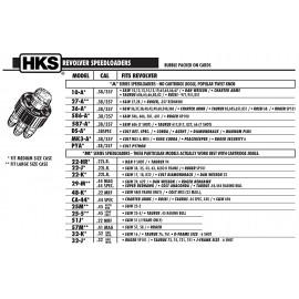 HKS 587-A Revolver Speedloader for S&W 686 (7-Shot), Taurus 617, 817, 827, 66 (7-Shot)